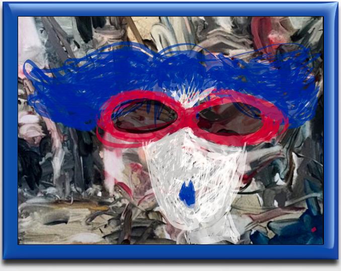Shady Lady with Blue Hair