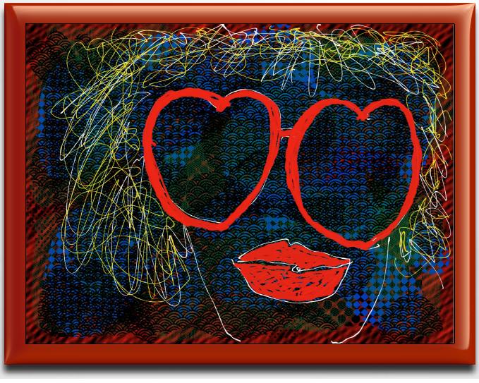 Shady Lady with Hearts